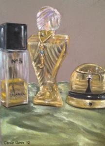 """Chanel, Siren & Precious"" PanPastels on Pastel Mat paper, 2012."