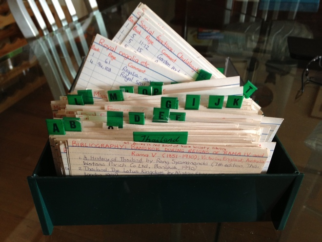 1990s writer's filing system