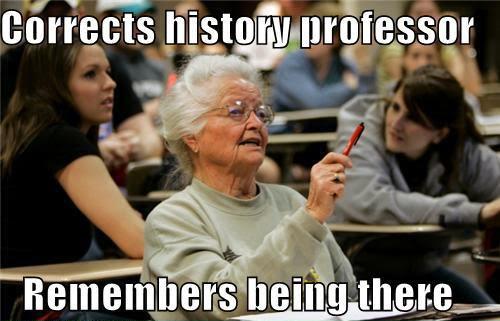 CorrectsHistoryProfessor-RemembersBeingThere