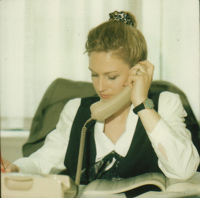 "Crayon-to-be: Caron at work at the magazine in 1990, about six years before the ""Crayon"" nickname came about."