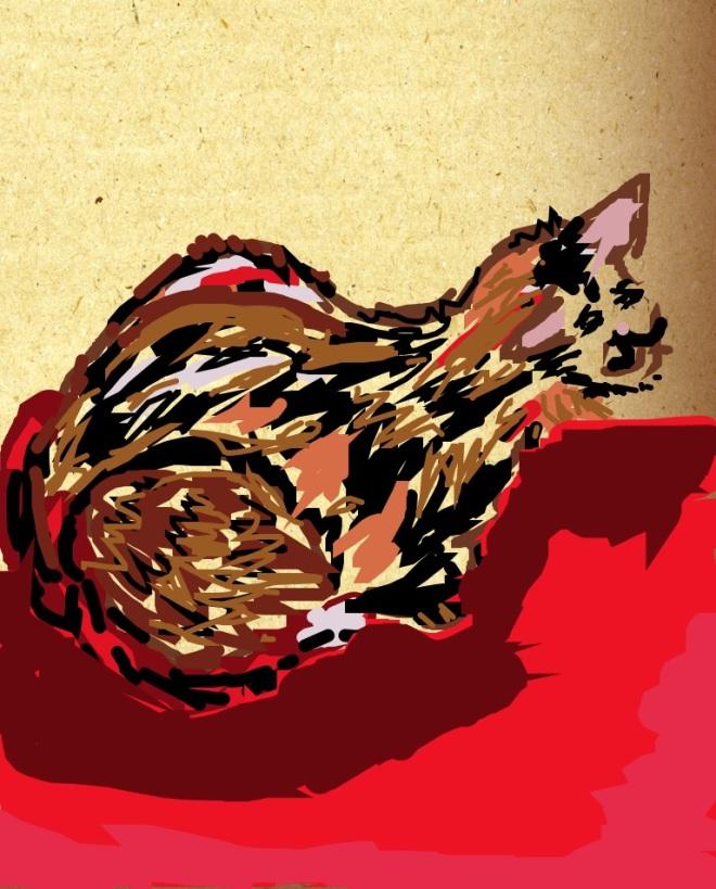 Lucy Locket, digital painting by Caron Dann, 2012