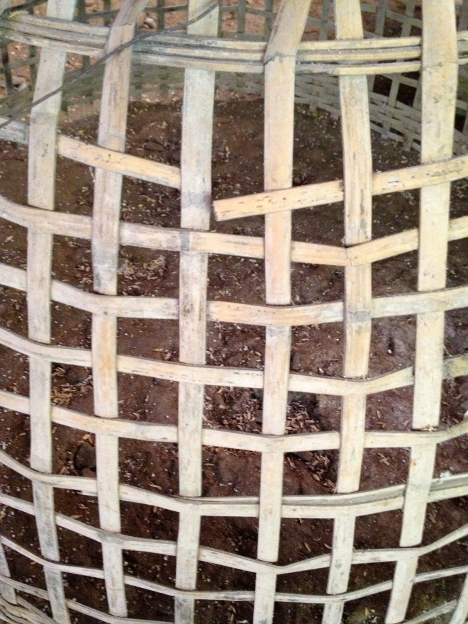 Basket detail, Thai Farmer House, Chiang Mai