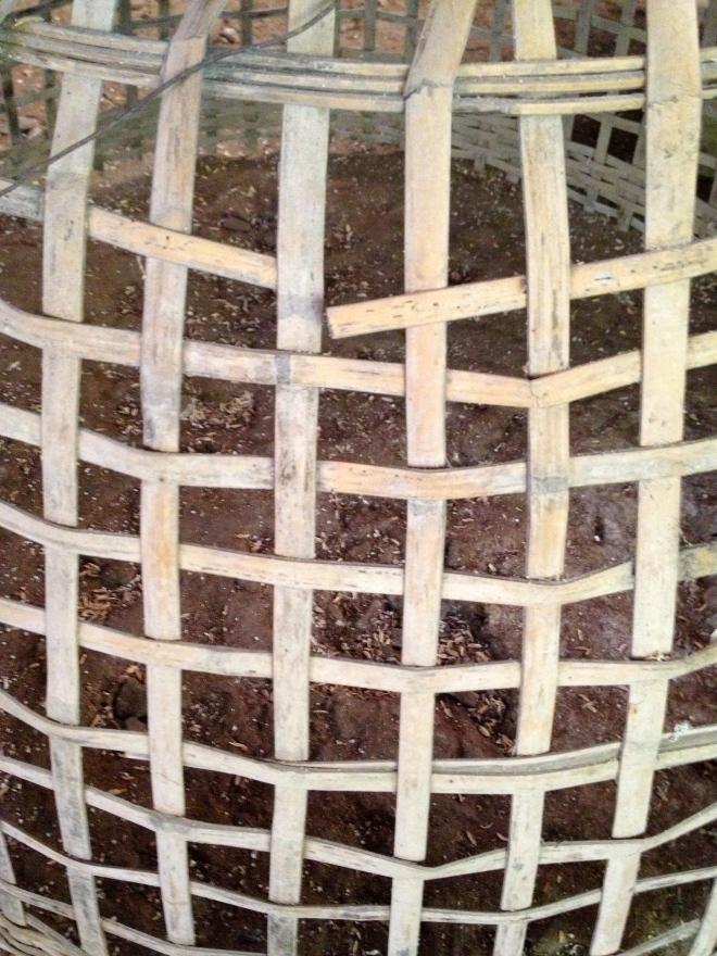 Basket detail, Thai Farmer House, Chiang Mai