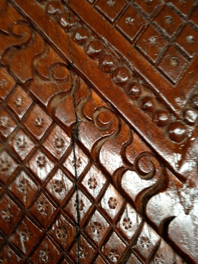 Wooden carving at Wat Doi Suthep
