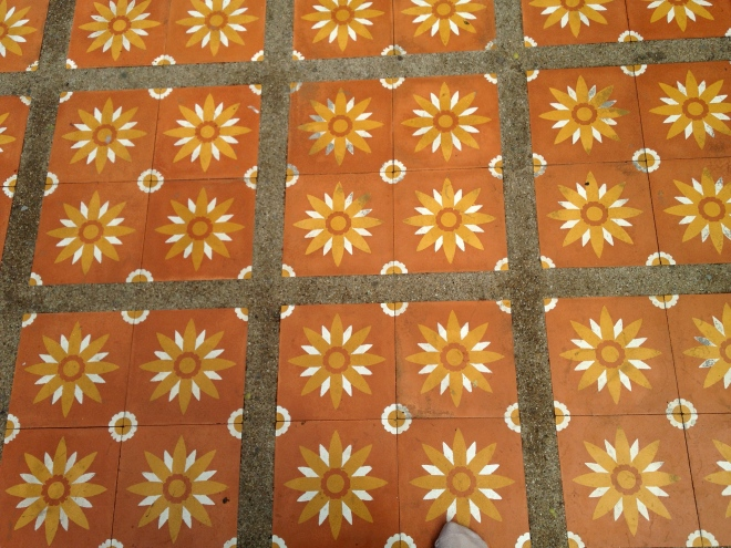 Floor tiles at Wat Doi Suthep, Chiang Mai