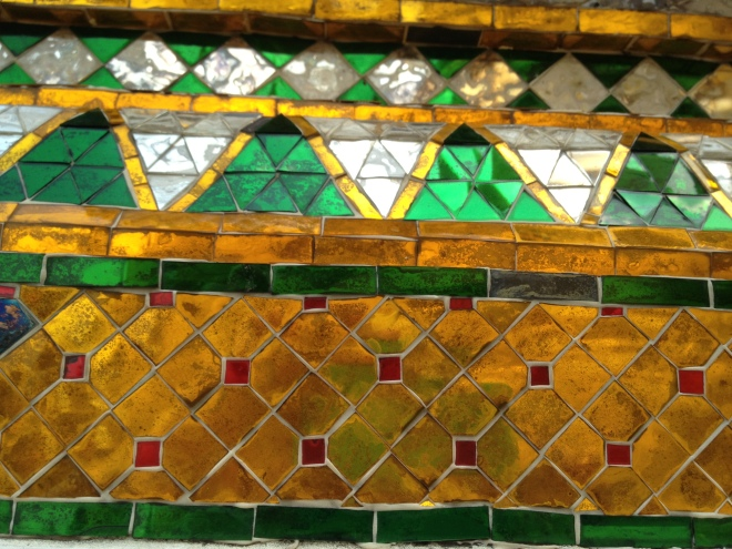 Temple tile details, Grand Palace, Bangkok