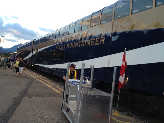 All aboard the Rocky Mountaineer, about to leave Kamloops for Banff. Picture by Caron Eastgate Dann 2013