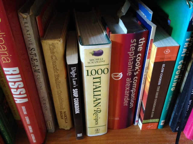 My recipe books take up two shelves of a big bookcase, and I have culled them to just the ones I use or am likely to use.