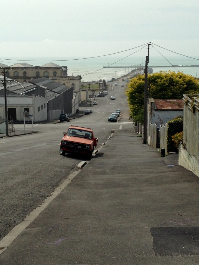 Approaching Oamaru's Victorian precinct from ??? St.  Picture ©Caron Eastgate Dann 2013