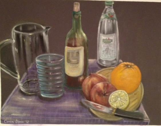 """Making Sangria"", Pan Pastels on treated paper © Caron Eastgate Dann 2012"
