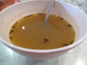 Soup to start: delicious, despite its ordinary looks. Picture by Kenny Weir at Consider the Sauce
